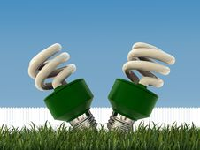 Free Green Bulbs Royalty Free Stock Image - 19551686