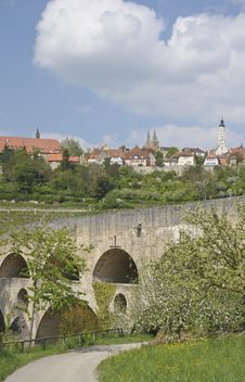 Rothenburg View Stock Photo
