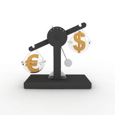 Free Balance Euro-dollar Royalty Free Stock Image - 19552116