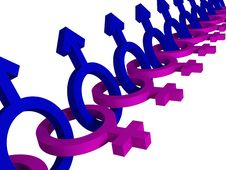 Male Female Gender Symbols Royalty Free Stock Image