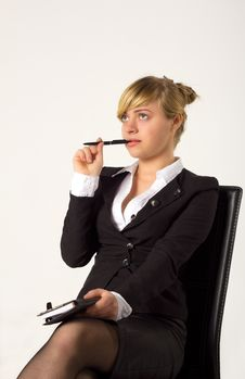 Free Businesswoman In Office Stock Image - 19552261
