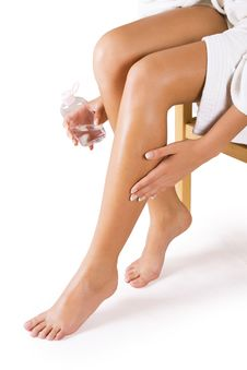 Free Beautiful Legs On White Royalty Free Stock Images - 19552459