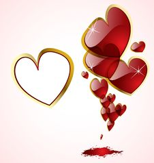 Free The  Abstract Hearts Background Royalty Free Stock Photos - 19553118