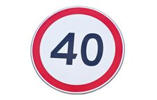 Free Speed Limit Road Sign Royalty Free Stock Images - 19553489