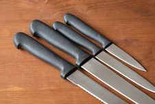 Free Kitchen Knives Set Stock Photos - 19553823