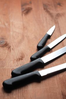 Free Kitchen Knives Set Royalty Free Stock Image - 19553826