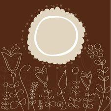 Free Retro Floral Background Stock Photo - 19553890