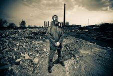 Free Bizarre Portrait Of Man In Gas Mask Stock Image - 19553951