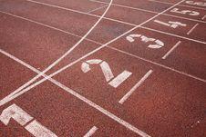 Free Running Track Starting Line Royalty Free Stock Photo - 19554005