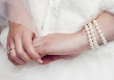 Free Bride S Hands Stock Photos - 19554043