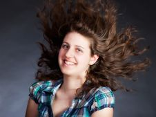 Free Woman With Long Flying Hair Stock Photo - 19554130