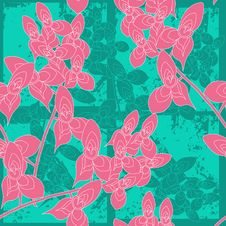 Free Seamless Floral Pattern Royalty Free Stock Images - 19554259