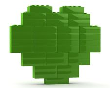 Free 3d Green Heart Royalty Free Stock Image - 19554266
