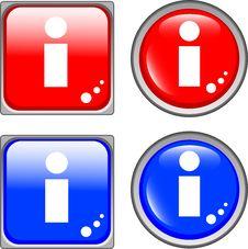 Free Info Glossy Web Button Stock Image - 19554281