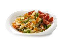 Free Varicolored Pasta With Vegetables Stock Photo - 19554410