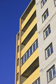 Free Building Against The Blue Sky Royalty Free Stock Photo - 19554415