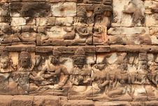 Free Relief Angkor Stock Photo - 19554670
