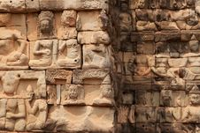 Free Relief Angkor Stock Image - 19554691