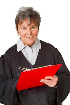 Free Female Lawyer With Clipboard Royalty Free Stock Images - 19554839