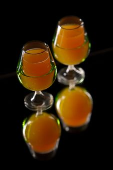 Free Orange And Carrot Drink In Elegante  Glasses Stock Images - 19555904