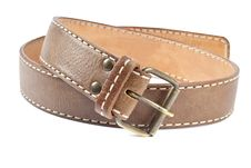 Free Woman S Brown Leather Belt Stock Photography - 19556092