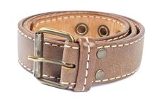 Free Woman S Brown Leather Belt Royalty Free Stock Images - 19556109