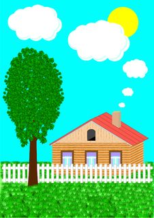 The Rural House And Tree