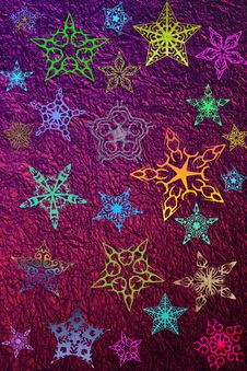 Holiday Multicolor Stars Royalty Free Stock Photography