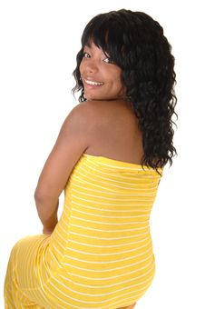 Free Girl With Yellow Dress 4. Stock Photo - 19558140