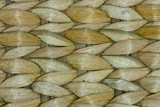 Free Thai Wooden Wicker Pattern Close Up Royalty Free Stock Image - 19558596