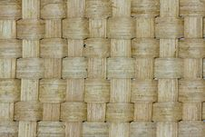 Free Thai Wooden Wicker Cross Pattern Close Up Royalty Free Stock Images - 19558609