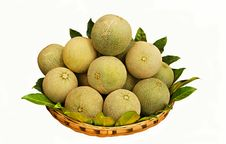 Free Basket With Melons. Stock Photos - 19559023