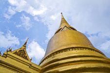 Grand Palace. 0ld Temple In Bang Kok. Stock Photography