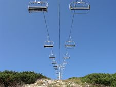 Free Mountain Ski Lift Royalty Free Stock Image - 19559606