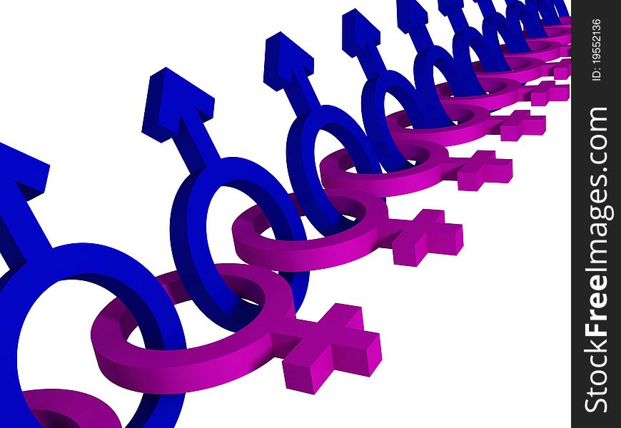 Male Female Gender Symbols Free Stock Images Photos 19552136