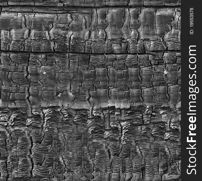 Charred wood seamless pattern