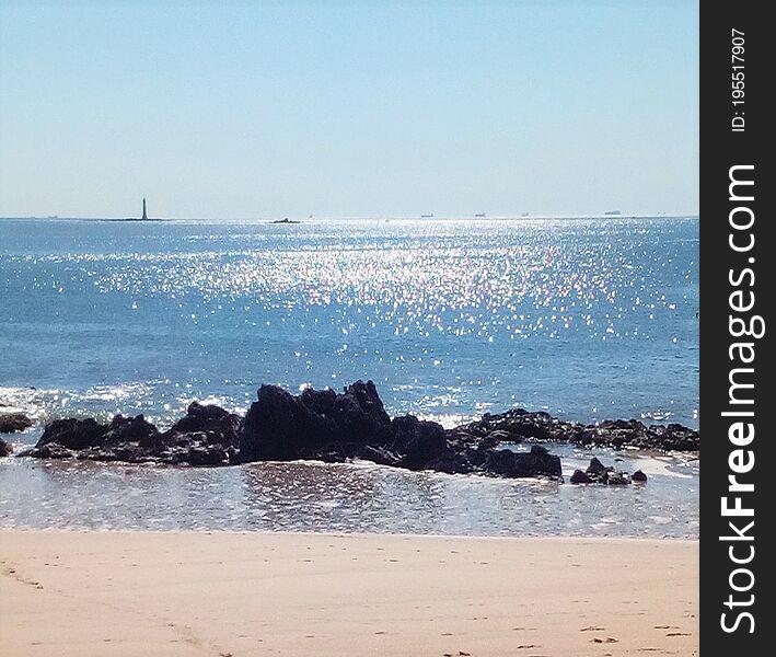 Ocean  panorama in summer.