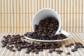 Free Cup With Coffee Beans Stock Images - 19567114
