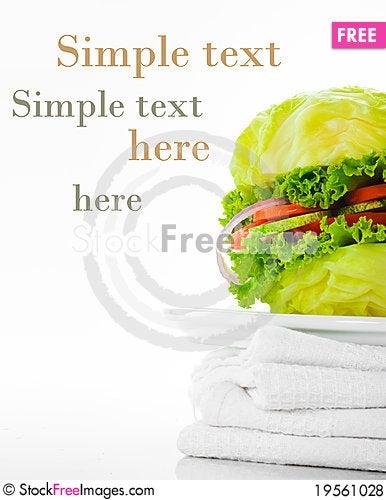 Free Vegetarian Burger Royalty Free Stock Photos - 19561028