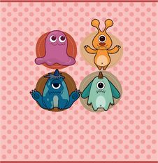 Free Cartoon Monster Card Stock Images - 19560004