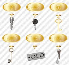 Free Yellow Tablets And Keys. Stock Photography - 19560402