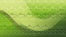 Free Green Arrows Wallpaper Stock Images - 19560684