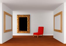 Free Gallery S Hall With Chair Royalty Free Stock Photos - 19560898