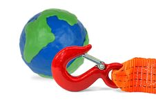 Globe And Automotive Cable Stock Photography