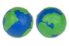 Free Two Plasticine Hemisphere Royalty Free Stock Photos - 19560978