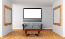 Free Show Room With Lcd Tv Stock Photography - 19561012