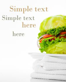 Free Vegetarian Burger Royalty Free Stock Photos - 19561028