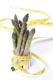 Free Asparagus And Measuring Type Royalty Free Stock Photo - 19561055