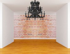 Free Room With Black Chandelier Stock Photo - 19561730