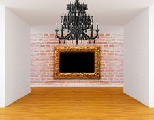 Free Room With Chandelier And Frame Stock Photography - 19561732